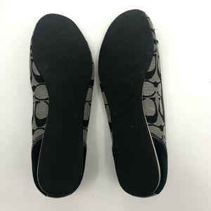 Coach Shoes - Coach Tillie Ballet Flat Shoes 9 Bow Accent Suede